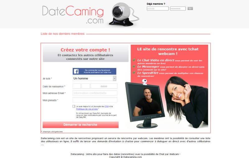 Datecaming.com - Avis 2020