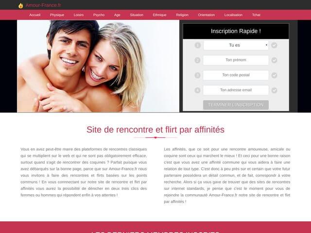 amour-france.fr : Site de rencontre par affinités