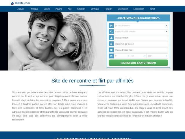illidate.com : Site de rencontre par affinités