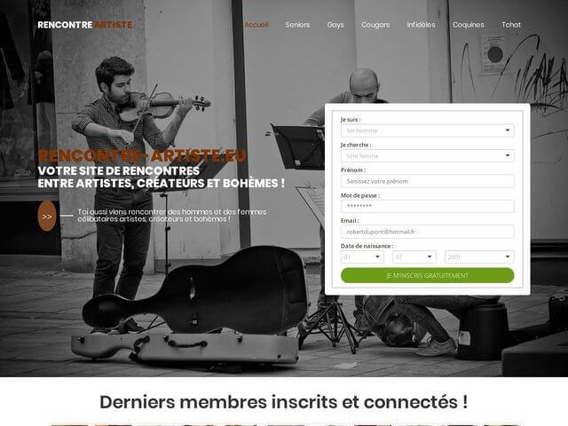 Rencontre-artiste.eu : Site de rencontres entre artistes