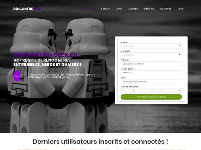 Rencontre-geek.eu : Site de rencontres entre geeks