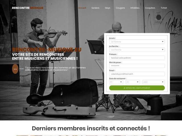 Rencontre-musique.eu : Site de rencontres entre musiciens