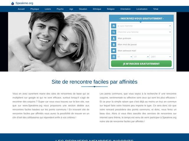 speakme.org : Site de rencontre par affinités